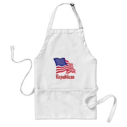 Republican/USA/American Flag Adult Apron