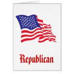 Republican/USA/American Flag Greeting Card