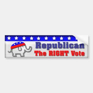 Republican Vote Bumper Sticker