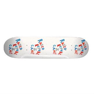 Republican voter rabid supporter fun word art skate board decks