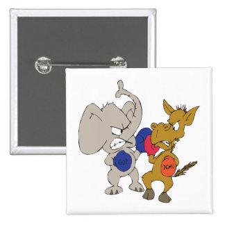 Republican Vs Democrat 15 Cm Square Badge