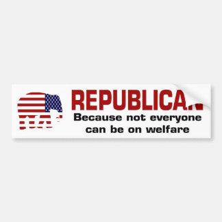 Republican Welfare Sticker