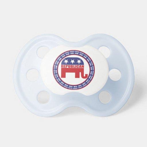 Republican Winning Years Baby Pacifiers