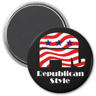 Republican with Style 7.5 Cm Round Magnet