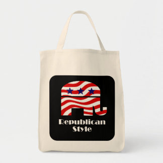 Republican with Style Grocery Tote Bag