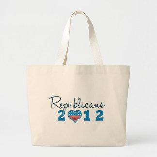 Republicans 2012 Patriotic Jumbo Tote Bag