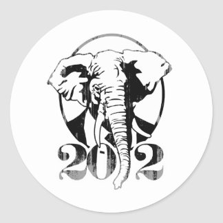 REPUBLICANS ARE MY HOMEBOYS Faded.png Round Sticker