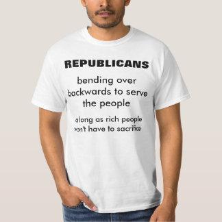 REPUBLICANS: Bending Over Backwards To Serve T-shirts