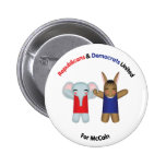 Republicans & Democrats United Button