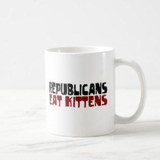 Republicans Eat Kittens Basic White Mug