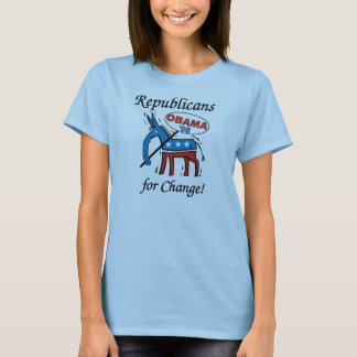 Republicans For Change Vote Obama T-Shirt