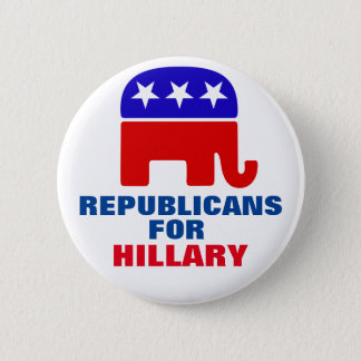 Republicans for Hillary Clinton 6 Cm Round Badge