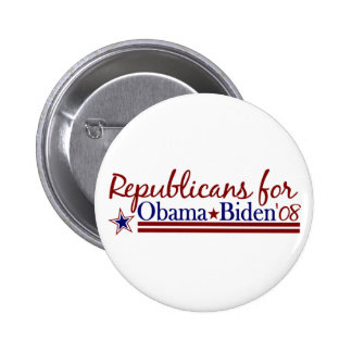 Republicans for Obama Biden Buttons