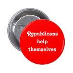 """Republicans Help Themselves"" Button"