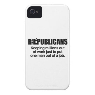 REPUBLICANS - KEEPING MILLIONS OUT OF WORK.png iPhone 4 Covers