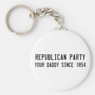Republicans know what's best basic round button key ring