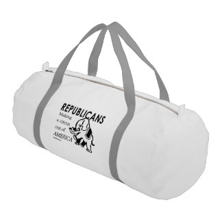 Republicans - Making a circus out of America Gym Duffel Bag