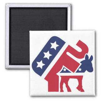 Republicans on top square magnet