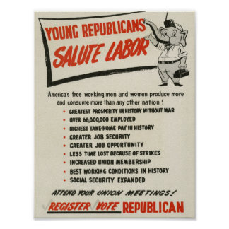 Republicans salute labor poster
