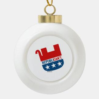 Republican't Ceramic Ball Decoration