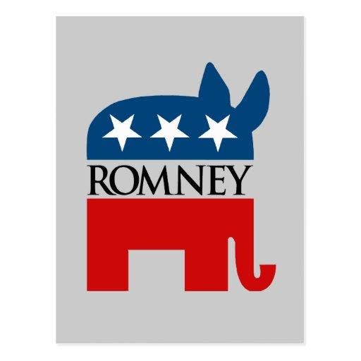 Republicrat Romney Postcard