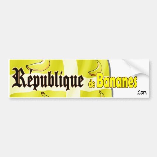 République de Bananes Bumper Sticker