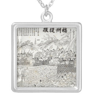 Repulse of the French Gun-boats Silver Plated Necklace