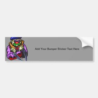 Repulsive Evil Clown Car Bumper Sticker