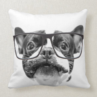 Reputable French Bulldog with Glasses Cushion