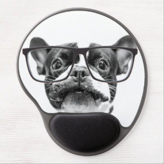Reputable French Bulldog with Glasses Gel Mouse Mat