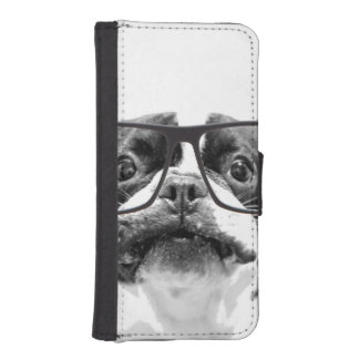 Reputable French Bulldog with Glasses iPhone SE/5/5s Wallet Case