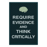 Require Evidence and Think Critically Poster