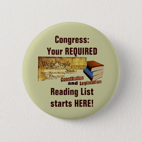 Required Reading 6 Cm Round Badge