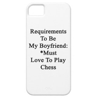 Requirements To Be My Boyfriend Must Love To Play iPhone 5 Covers