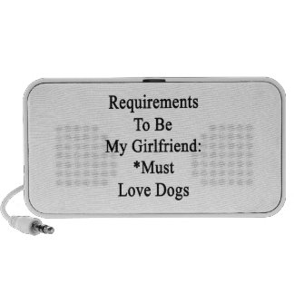 Requirements To Be My Girlfriend Must Love Dogs Mini Speaker