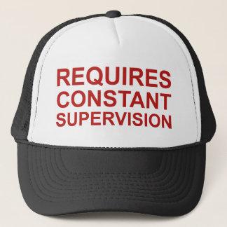 Requires Constant Supervision Trucker Hat