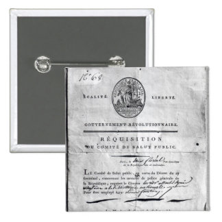 Requisition of the Committee of Public 15 Cm Square Badge