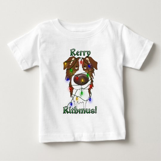 Rerry Rithmus - Australian Shepherd Baby T-Shirt