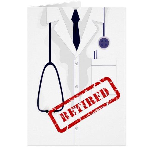 Rertired Doctor Medical Coat Male Custom Greeting Card
