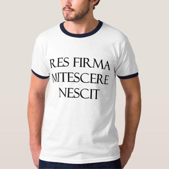 Res Firma Mitescere Nescit Men's Ringer T-Shirt