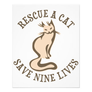 Rescue A Cat Save Nine Lives 11.5 Cm X 14 Cm Flyer