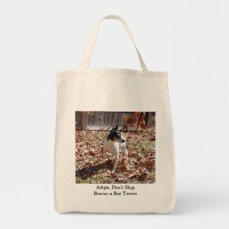 Rescue a Rat Terrier Tote Bag