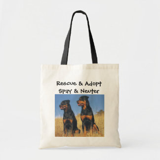 Rescue & Adopt, Spay & Neuter, Rottweilers Budget Tote Bag
