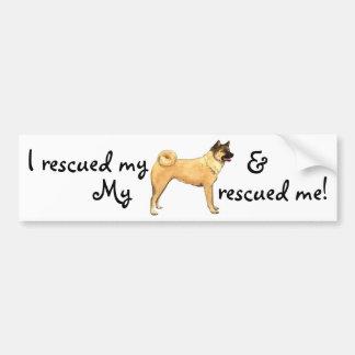 Rescue Akita Bumper Sticker