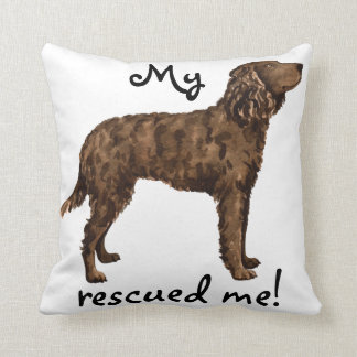 Rescue American Water Spaniel Throw Pillow