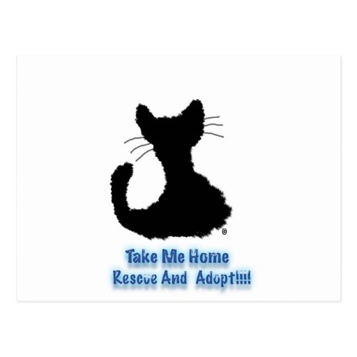 rescue and adopt postcards