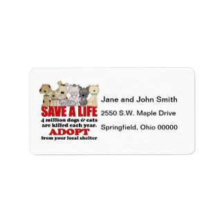 Rescue Animals Address Label