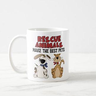 Rescue Animals Make The Best Pets Mug/Cup Basic White Mug