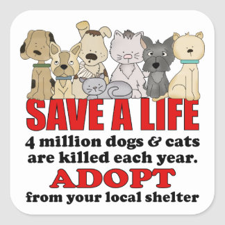 Rescue Animals Square Sticker