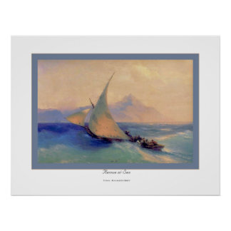 Rescue at Sea~ Ivan Aivazovsky Posters